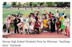 Korean High School Students Pose For Hilarious  Anything Goes  Yearbook   SeoulSync